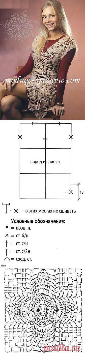 Туника из квадратных мотивов