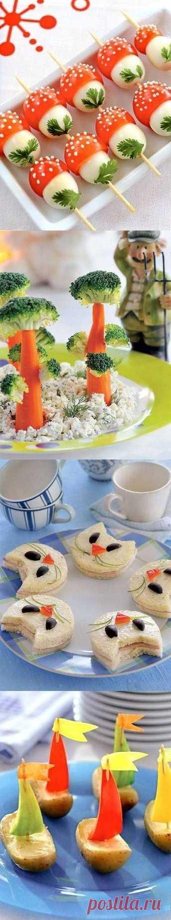Яркие закуски для детской вечеринки