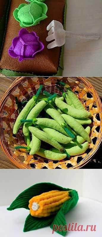 Выкройки и описания разных овощей и фруктов.