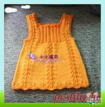 073eecf91e3 Вязаные платья для детей спицами схемы. Вязаные сарафаны для детей спицами  схемы