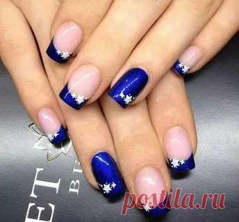 дизайн ногтей в синем цвете фото на короткие ногти: 23 тыс ...