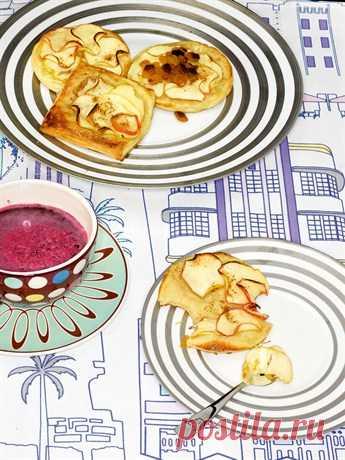Яблочные слойки с изюмом (для получения рецепта нажмите 2 раза на картинку)