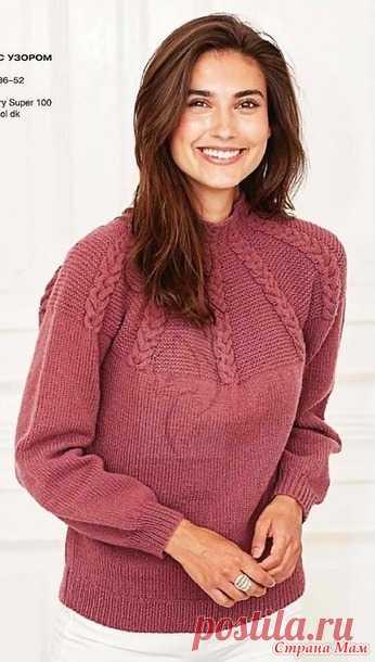 Сама женственность. Пуловер с узором из
