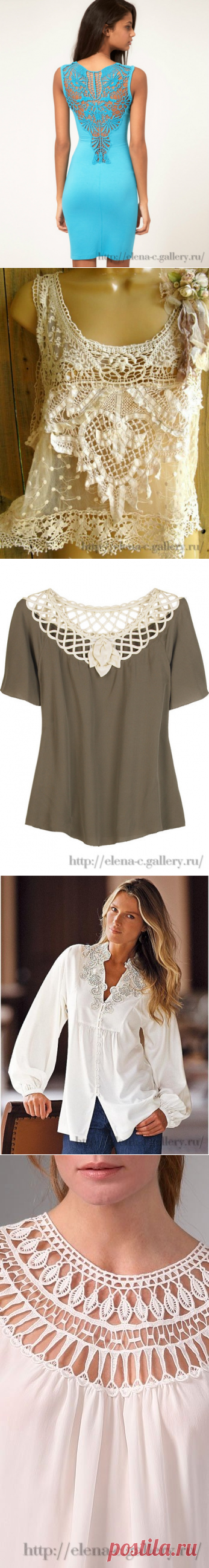 Оживить блузки (ткань + крючок)