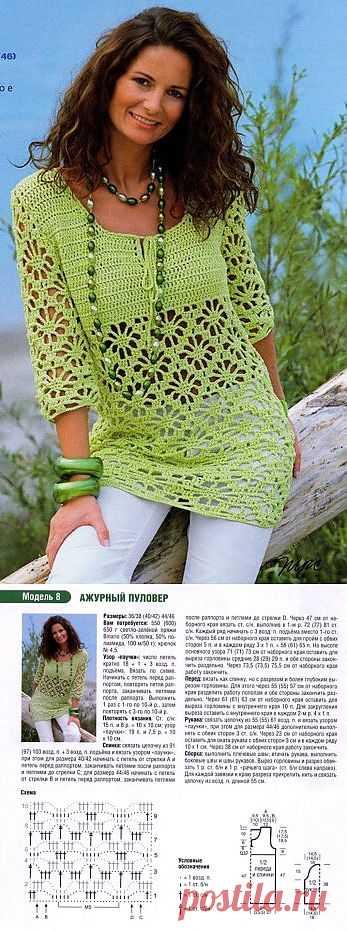 Ажурный пуловер.