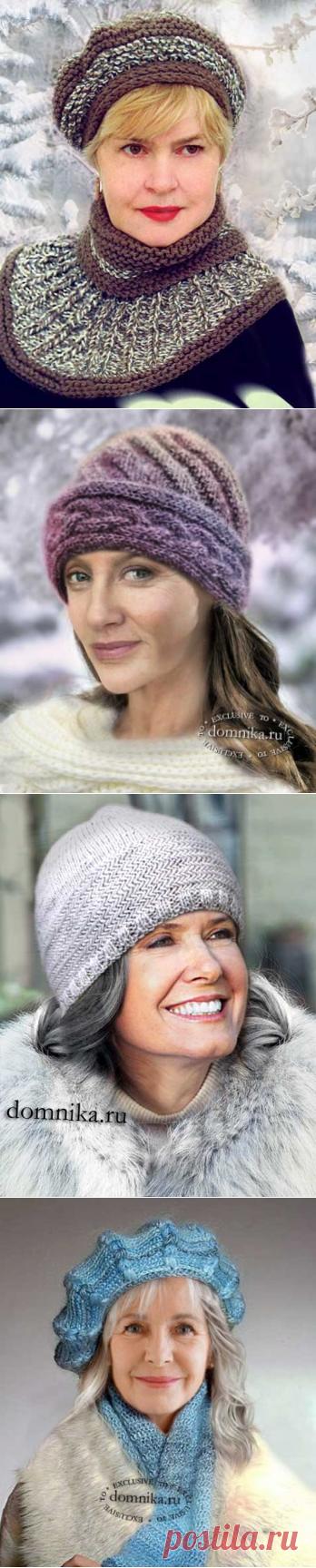 Зимние шапки для пожилых дам 60 лет - вязание шапки для женщин старшего возраста