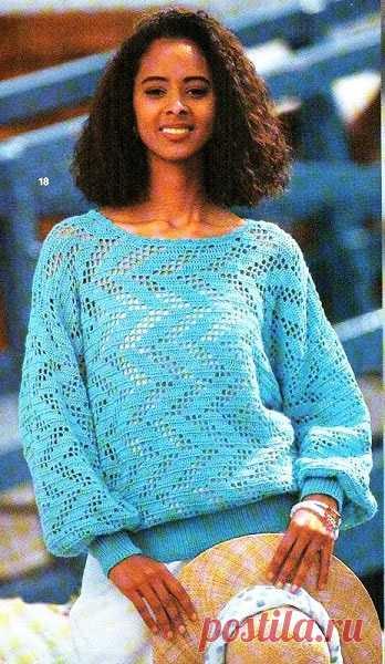 Вяжем милый пуловер