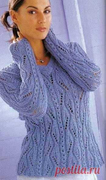 Пуловер с запоминающимися узорами