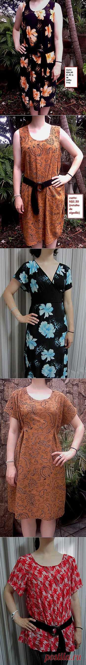 El vestido simple por el verano.