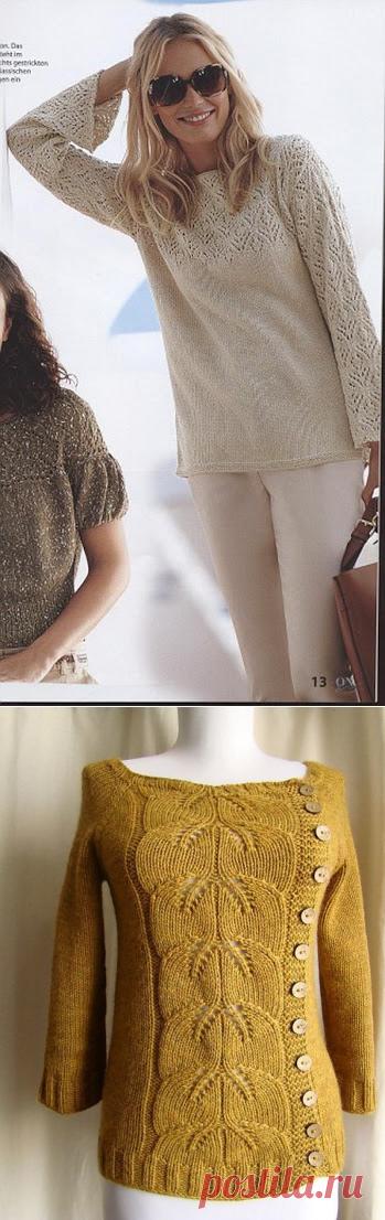 Мастера и умники: Нежный пуловер и джемпер с красивым узором