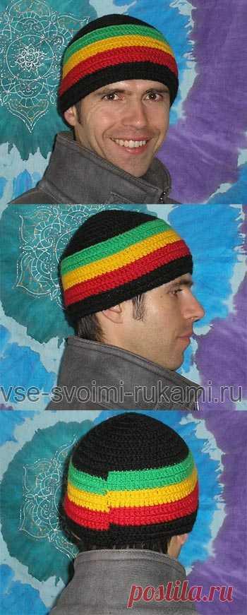 Растаманская шапка — схема вязания крючком « МЫ ДЕЛАЕМ ВСЕ СВОИМИ РУКАМИ