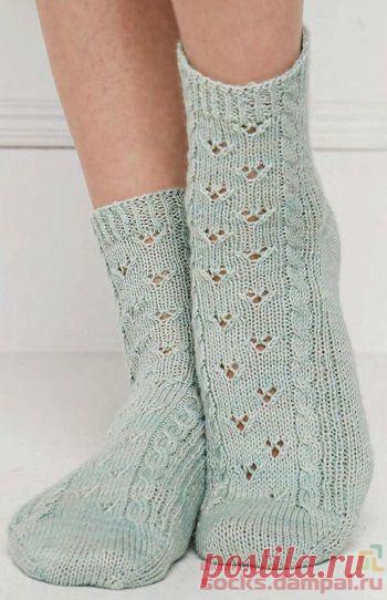 Вязаные носки «Следы на снегу» | ВЯЗАНЫЕ НОСКИ