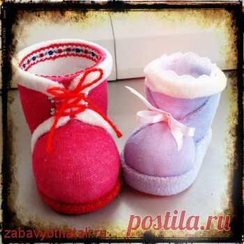 Башмачки из носков | Забавы от Натальи