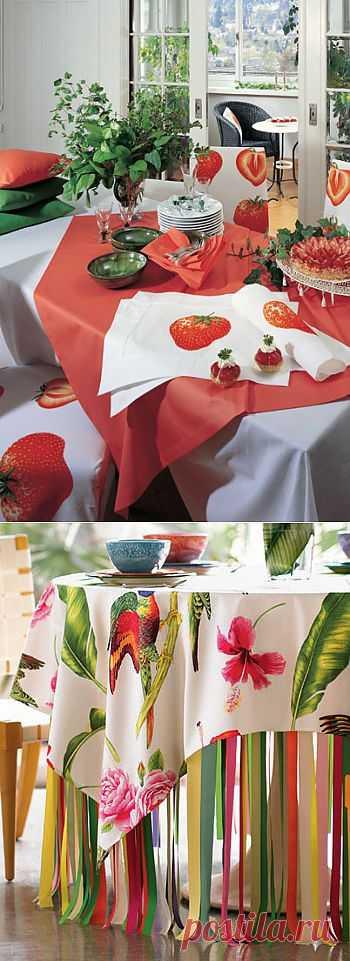 Скатерти для украшения нашего стола. Летние яркие сочные цвета!