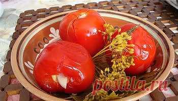 Рецепт помидоров с медом и чесноком без уксуса - Овощи на зиму . 1001 ЕДА вкусные рецепты с фото!
