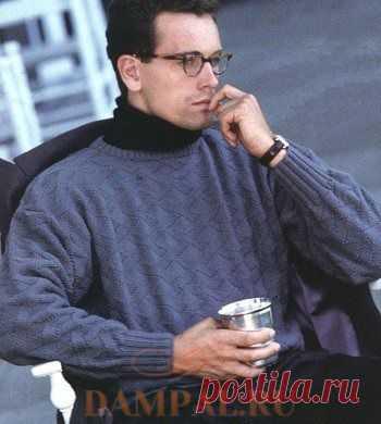 Мужской пуловер «Переплетение решетки» | DAMские PALьчики. ru