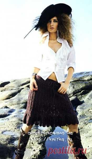 Openwork skirt, Knitting for women
