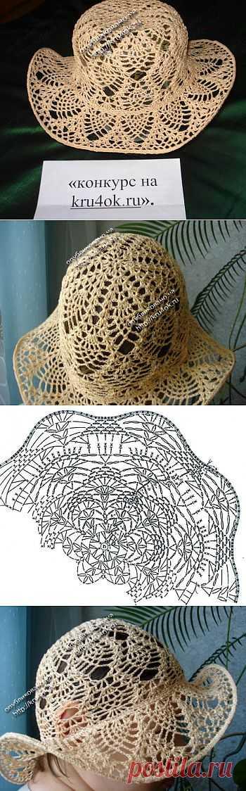 Шляпка для маленькой модницы - вязание крючком на kru4ok.ru