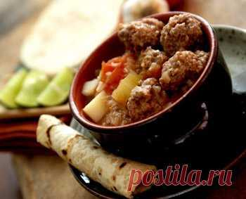 Рецепт мексиканского супа с фрикадельками - Суп с фрикадельками от 1001 ЕДА
