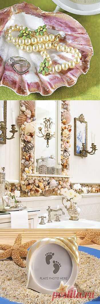 Морские ракушки – идеи декора   Дом Мечты