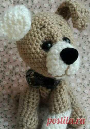 символ 2018 года крючком игрушка собака вязаная крючком вязание