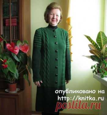 Вязаные спицами пальто для женщин ( подборка) от knitka.ru