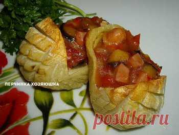 Картофельные лапти с начинкой - Перчинка Хозяюшка -