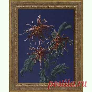 Хризантемы в саду 71209 / Краса i Творчiсть / Набори для вишивки бісером / Вишивання на Zinzilin.com