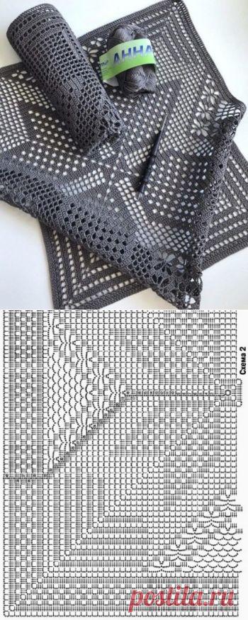 Шикарный квадратный мотив для скатерти