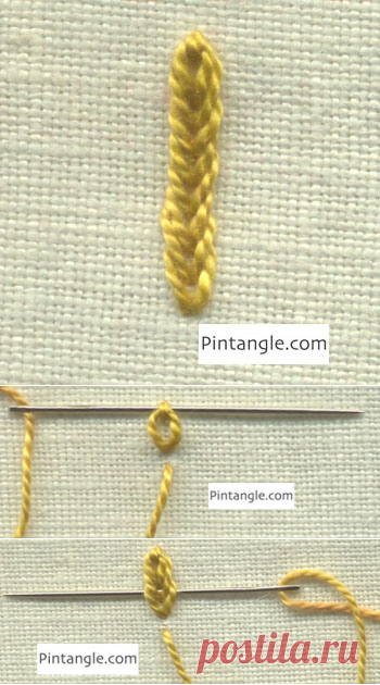 Broad Chain Stitch - Pintangle