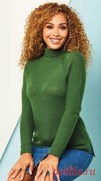 Пуловер с воротником под горло «Lothian»