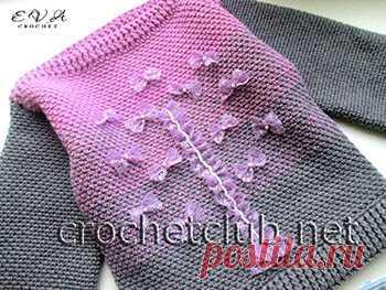 свитер с эффектом деграде Fairy вязание крючком блог настика