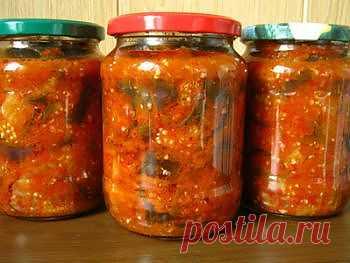 Рецепт салата из баклажанов по-корейски на зиму - Овощи на зиму . 1001 ЕДА вкусные рецепты с фото!