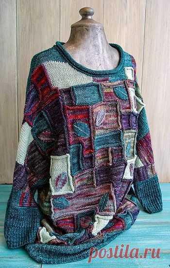 Вязаный свитер «Colorblock»