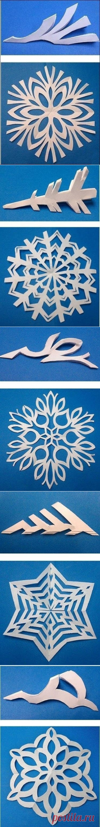 We cut out snowflakes
