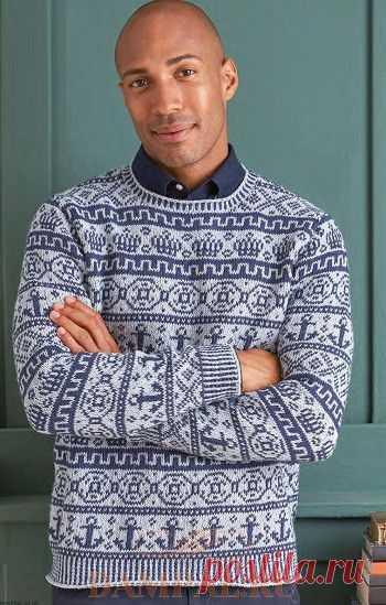 Мужской пуловер «Garrick» | DAMские PALьчики. ru