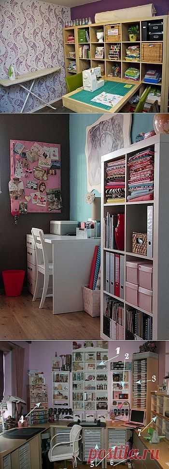 Craft room - рабочие комнаты рукодельниц (часть 3).