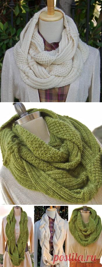 Оригинальный шарф снуд - Все своими руками