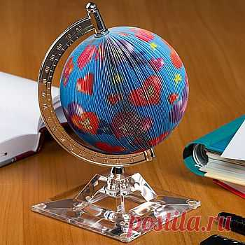 Бумага для заметок в виде глобуса «Сердца» - 360,00 р. Очень красиво и оригинально