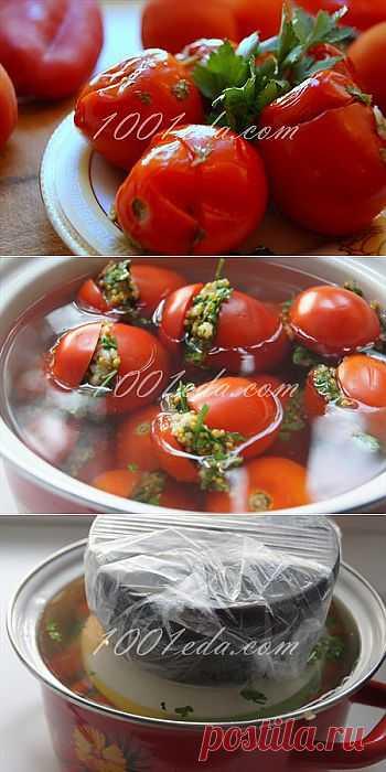 Вкусные маринованные помидорчики - Помидоры на зиму . 1001 ЕДА вкусные рецепты с фото!