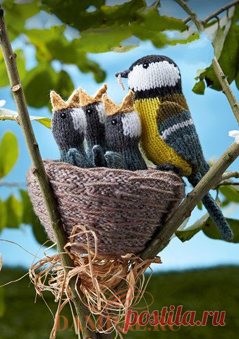 Пасхальные игрушки «Чирикающие птицы» Птицы- Вышивка крестом и гладью схемы