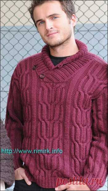 eadcd77f947 мужской пуловер спицами - Самое интересное в блогах