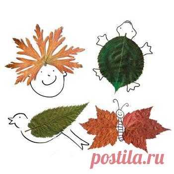 Листья можно... вышивать | NosKurnos.ru