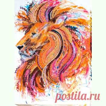 Огнегривый лев AB-555 / Абрис Арт / Набори для вишивки бісером / Вишивання на Zinzilin.com