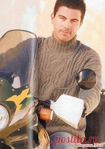 Мужской свитер «Hjalte» спицами - Вязание - Страна Мам