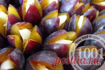 Рецепт слив с чесноком на зиму - Заготовка фруктов и ягод от 1001 ЕДА