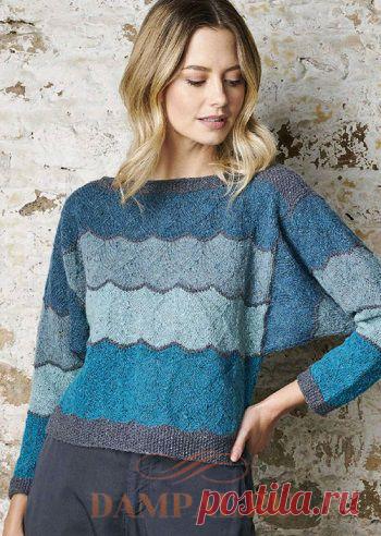 Вязаный пуловер «Aurora» | DAMские PALьчики. ru