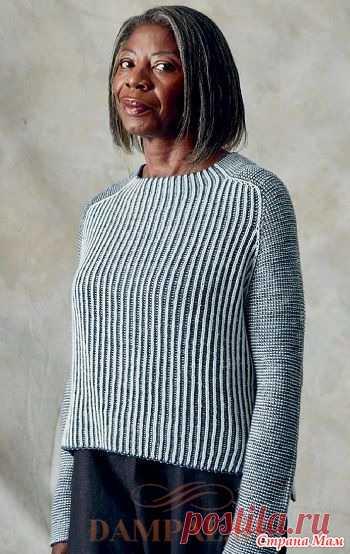 Пуловер выполненнный в офисном стиле рисунком бриош. Спицы. Женский вязаный пуловер выполнен в офисном стиле рисунком бриош.  Размеры: Окружность груди готового изделия – 92 (103.5, 113, 124.5, 136.5) см с припуском 15-20 см для свободного облегания.