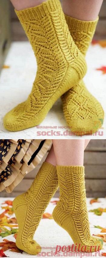 Вязаные носки «Crocus»   ВЯЗАНЫЕ НОСКИ