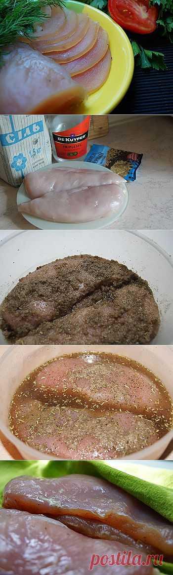 Вкусный рецепт вяленой курятины - Соление рыбы, мяса, сала . 1001 ЕДА вкусные рецепты с фото!
